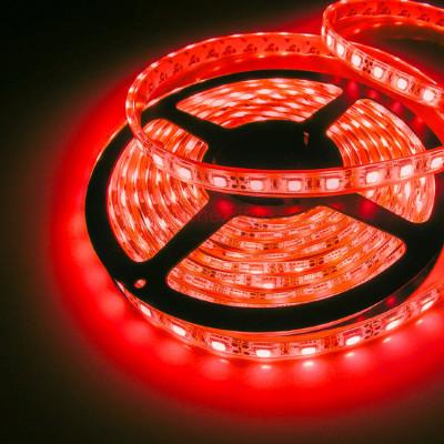Светодиодная лента smd 2835 120д.м. 12V (IP20) красный,улучшеного качества(цена 1 м)