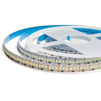 Cветодиодная лента SMD 2835 12V 204д.м. IP20 CRI 85 холодный белый (цена 1 м)
