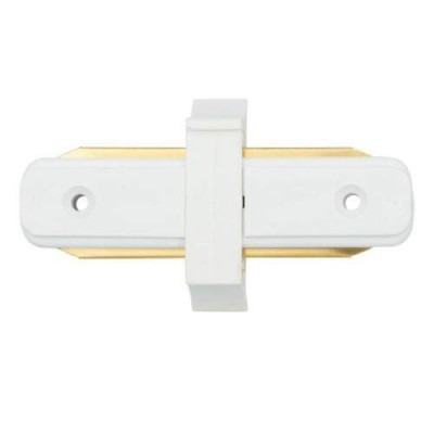Коннектор для шинопровода однофазного пирамидального, прямой,белый