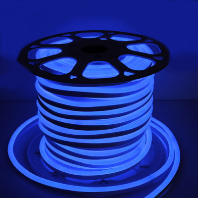 Неоновая лента 2835 6W,120 д.м. (IP65) 220В 8х16мм синий (цена 1м) (52)