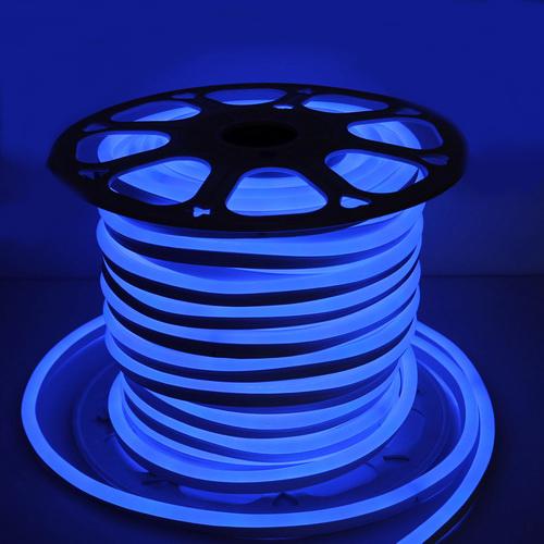 Неоновая лента 2835 120 д.м. (IP65) 220В 6mm синий (цена за 1 м)
