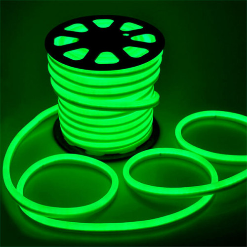 Неоновая лента SMD2835 120 д.м. (IP65) 220В 6mm зеленый (цена за 1 м)