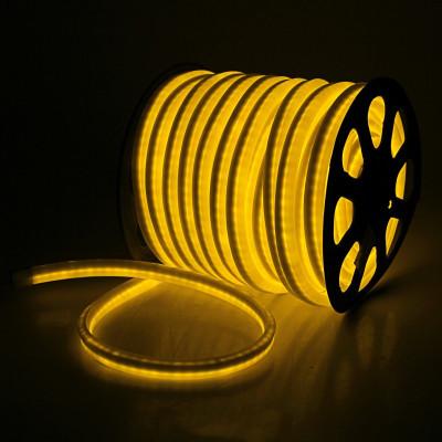 Неоновая лента SMD 2835 120 д.м. (IP65) 220В 8х16мм желтый (цена 1 м) (52)