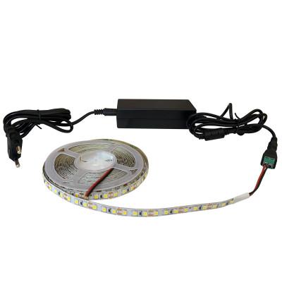 Набор светодиодной ленты SMD 2835 (120 LED/m) IP20 теплый белый 5м + блок питания + коннектор