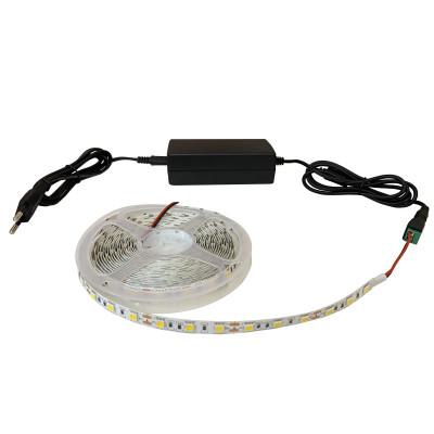 Набор светодиодной ленты SMD 5050 (60 LED/m) IP20 теплый белый 5м + блок питания + коннектор