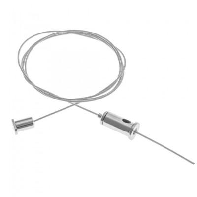 Тросик для подвеса светильника ( шинопровода / профиля ) 1м с регулировкой
