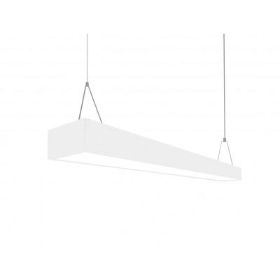 Подвесной светильник под две лампы Т8 120см (3000-5400 Лм) белый (металл)