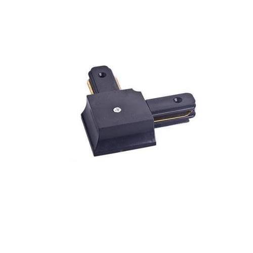 Соединитель для шинопровода трекового светильника, угловой, черный