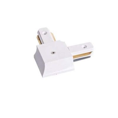 Соединитель для шинопровода однофазного трекового пирамидального,угловой,белый