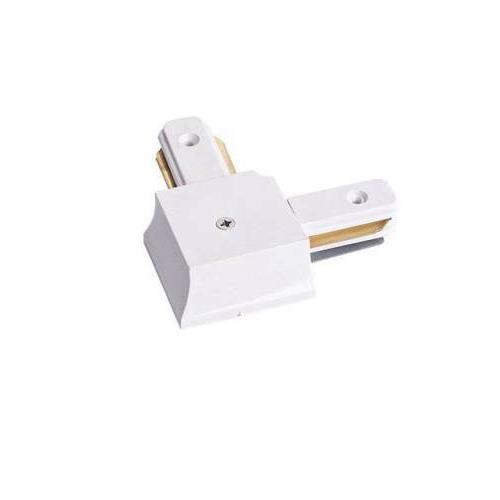 Соединитель для шинопровода трекового светильника, угловой, белый