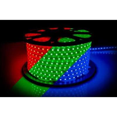 RGB лента 60д.м. 5050 220V 10W/m IP67 8mm AVT (цена 1 м)