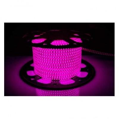 Светодиодная лента AVT-120B2835-220V-4W/m IP65 5mm розовый (цена за 1 м)