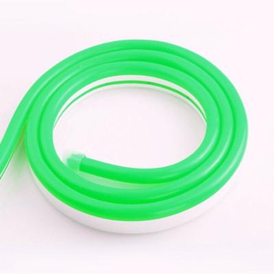 Неоновая лента SILICONE 12В SMD2835 120 д.м. IP68 8х16мм Зеленый (цена 1м)