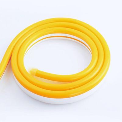 Неоновая лента SILICONE 12В SMD2835 120 д.м. IP68 8х16мм Желтый (цена 1м)