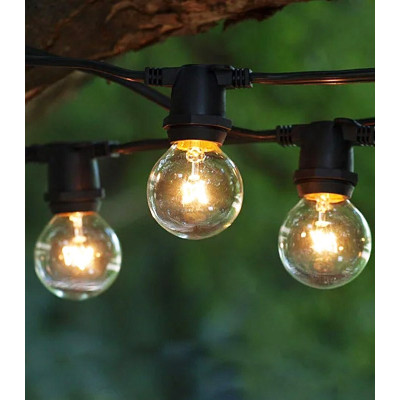 Уличная гирлянда ретро Feron CL50-8 E27 10 ламп 5м черная