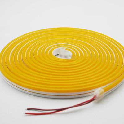 Неоновая лента AVT 120R2835-12V-6W/m IP65 6*12mm SILICONE  лимонно-желтый (цена за 1 м)