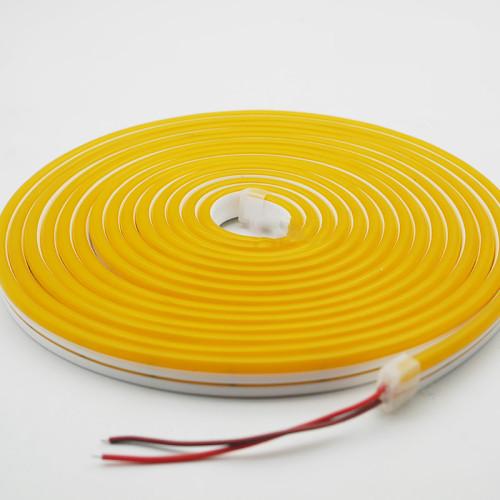 Гибкий неон AVT-NEON 120R2835-12V-6W/m IP65 6*12mm SILICONE желтый (цена за 1 м)