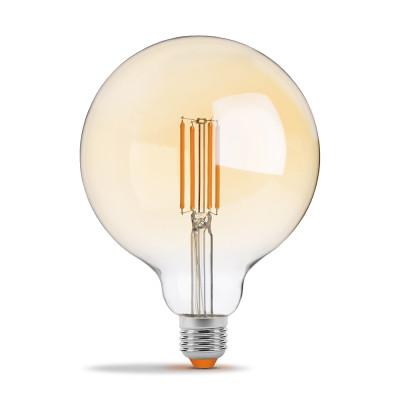 Филаментная лампа VIDEX Filament G125FAD 7W E27 2200K бронза диммер