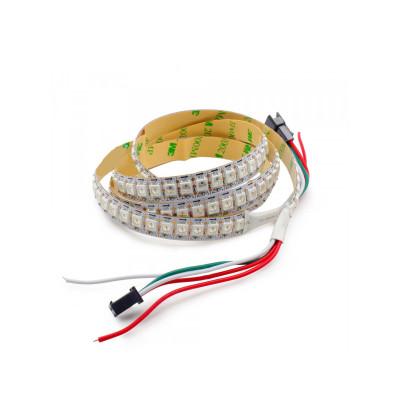 Светодиодная лента WS2812b RGB SMD 5050 5V 144 д.м. IP20 WS2812b PIXEL (цена 1м) белая основа