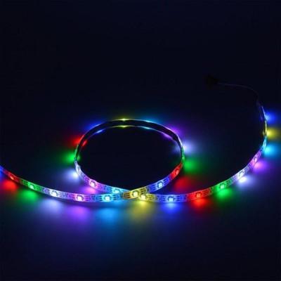 RGB RW лента 5050 30 LED/m, 1LED IP20 WS2812b белая основа (цена 1м)