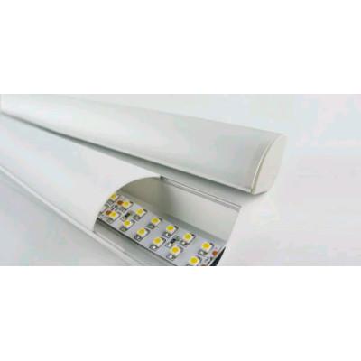 Профиль для LED ленты, двойной Ал 206-1 с рассеивателем 2м (цена 1м)